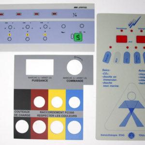 Etiquettes sur Lexan - Serilec