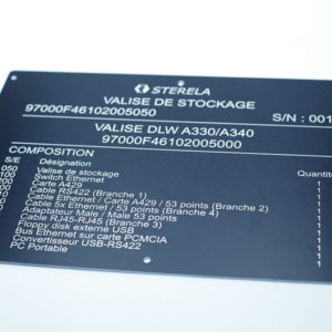 Etiquette métalphoto - Serilec