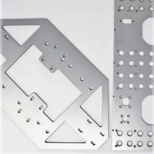 Faces avant aluminium usiné sérigraphié - Serilec
