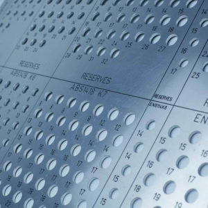 Panoplie en aluminium usiné gravé - Serilec